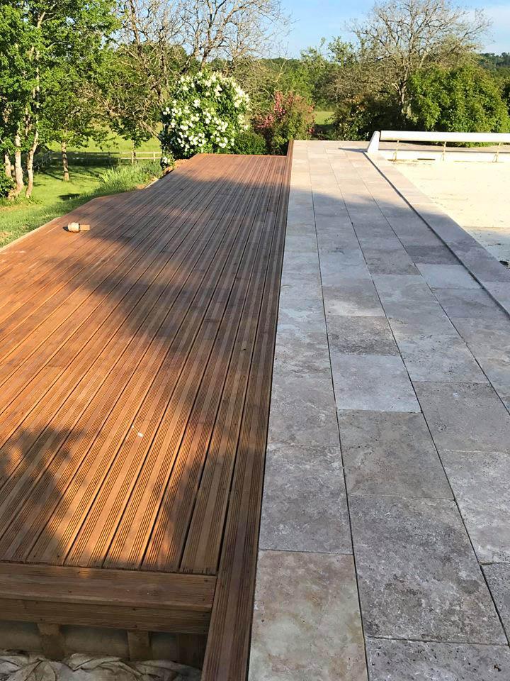terrasse bois carrelage melange trendy pour ma terrasse bois massif ou composite with terrasse. Black Bedroom Furniture Sets. Home Design Ideas