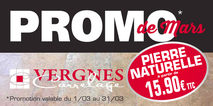 Vergnes carrelages promo mars